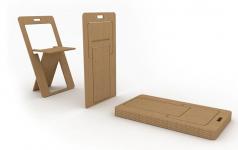 faltbarer klappstuhl sheetseat sch ner wohnen. Black Bedroom Furniture Sets. Home Design Ideas