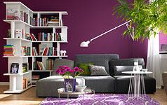 lange schmale wohnk che wandfarbe raum und m beldesign. Black Bedroom Furniture Sets. Home Design Ideas