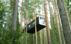 das baumhaus wohnen ber den wipfeln sch ner wohnen. Black Bedroom Furniture Sets. Home Design Ideas