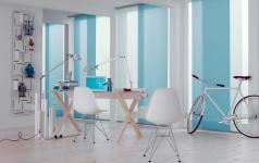 schiebegardinen gestaltungsvorschl ge infos und tipps sch ner wohnen. Black Bedroom Furniture Sets. Home Design Ideas
