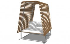 outdoor bank mit dach tipp des tages sch ner wohnen. Black Bedroom Furniture Sets. Home Design Ideas