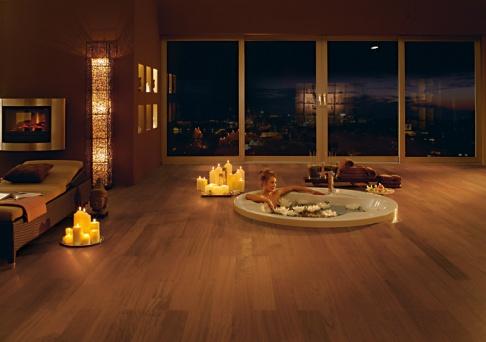 parkett im bad parkett laminat sch ner wohnen. Black Bedroom Furniture Sets. Home Design Ideas
