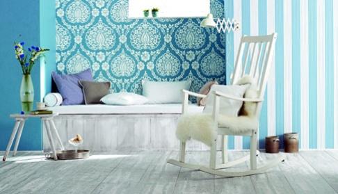 tapezieren mit tapete gestalten sch ner wohnen. Black Bedroom Furniture Sets. Home Design Ideas