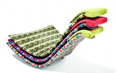 schaukelliege fedro aus farbigem kunststoffgeflecht sch ner wohnen. Black Bedroom Furniture Sets. Home Design Ideas