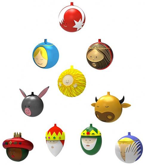 Alessi mit weihnachtskugeln palle presepe tipp des tages for Alessi weihnachtskugeln