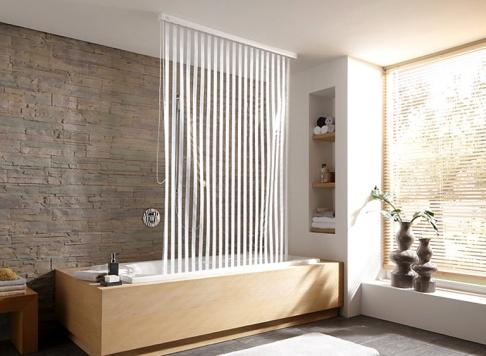 der duschvorhang aufh ngesysteme und modelle sch ner wohnen. Black Bedroom Furniture Sets. Home Design Ideas
