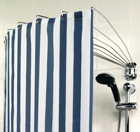 Der Duschvorhang - Aufhängesysteme und Modelle - [SCHÖNER