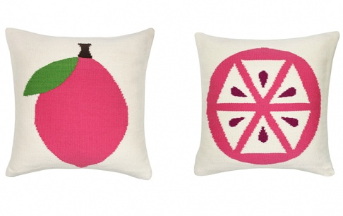 kissenkollektion pink lemon von jonathan adler. Black Bedroom Furniture Sets. Home Design Ideas