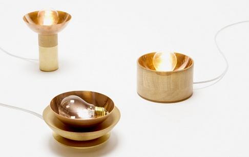 tischleuchte candil aus messing kupfer und holz sch ner wohnen. Black Bedroom Furniture Sets. Home Design Ideas