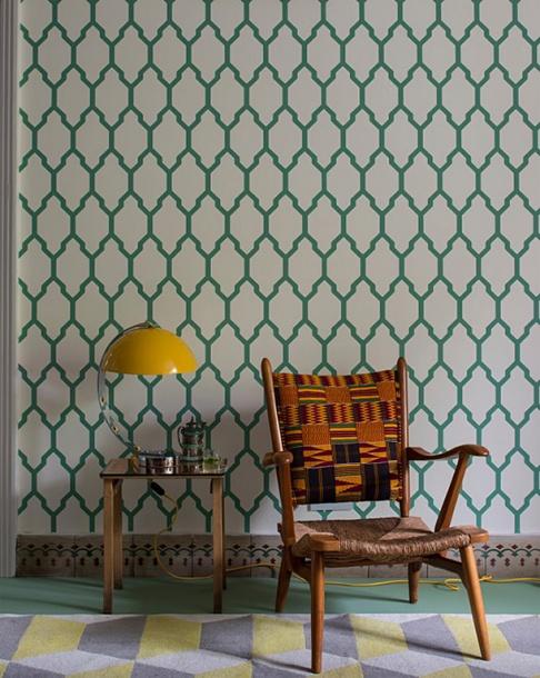 neue tapete tessella bei farrow ball sch ner wohnen. Black Bedroom Furniture Sets. Home Design Ideas