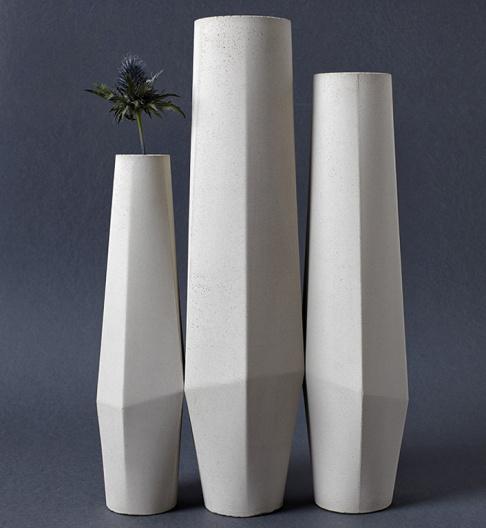 vasenkollektion the marchig e aus beton sch ner wohnen. Black Bedroom Furniture Sets. Home Design Ideas