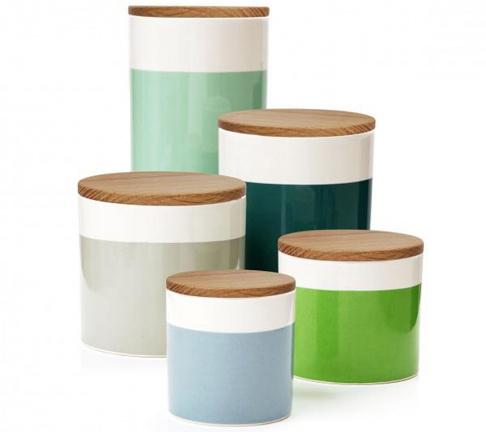 vorratsdosen fjord aus porzellan und holz sch ner wohnen. Black Bedroom Furniture Sets. Home Design Ideas