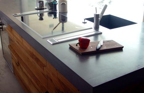bàn bếp bê tông