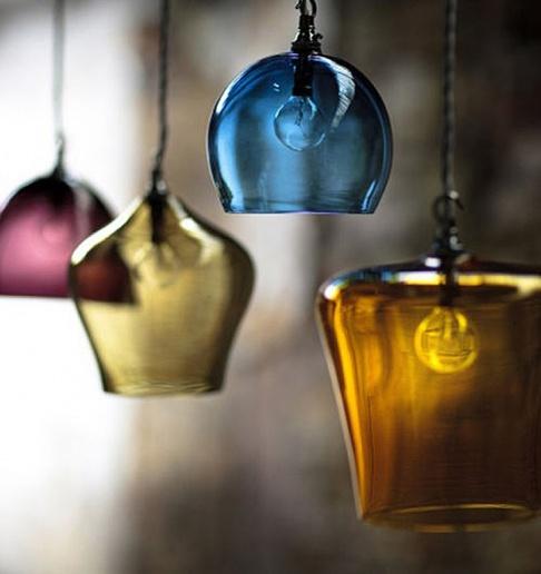mungeblasene leuchten glass pendants von esther patterson sch ner wohnen. Black Bedroom Furniture Sets. Home Design Ideas