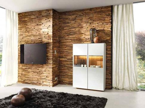 holzverkleidung f r die wand waldkante von team 7 sch ner wohnen. Black Bedroom Furniture Sets. Home Design Ideas
