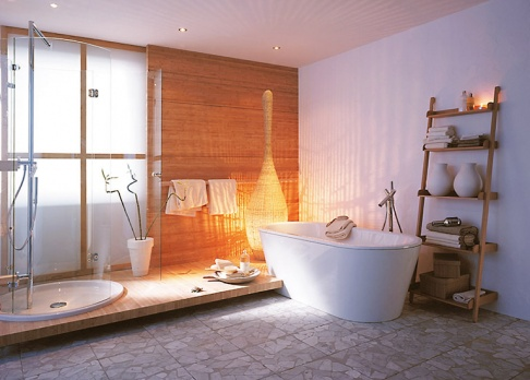 wellness badezimmer als private spa sch ner wohnen. Black Bedroom Furniture Sets. Home Design Ideas