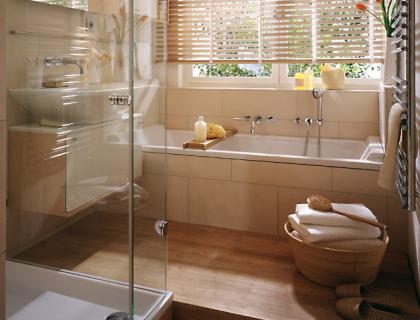vorher nachher neue raumaufteilung f rs badezimmer sch ner wohnen. Black Bedroom Furniture Sets. Home Design Ideas