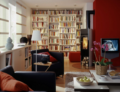 wohnzimmer bibliothek b rozubeh r. Black Bedroom Furniture Sets. Home Design Ideas
