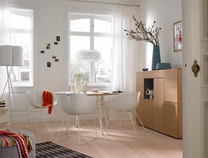 kombi raum zum wohnen essen schlafen wohn und esszimmer sch ner wohnen. Black Bedroom Furniture Sets. Home Design Ideas