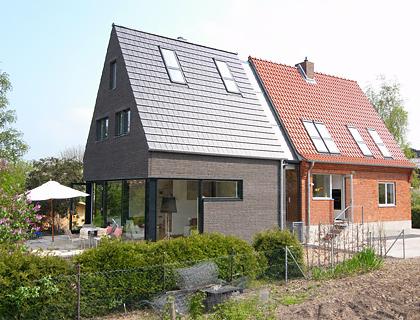 umbauen renovieren verdoppelung eines siedlungshauses