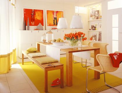 esszimmer mit farbe gestalten ~ kreative deko-ideen und, Esszimmer