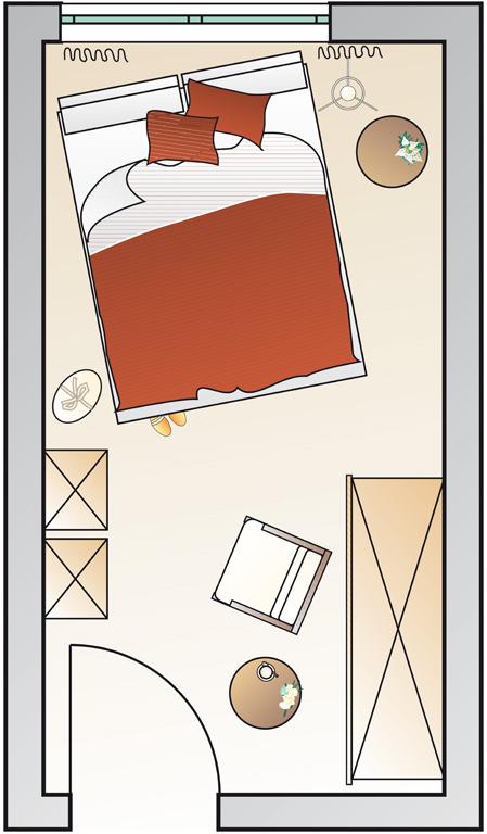 langes schmales schlafzimmer einrichten – usblife, Schlafzimmer ideen