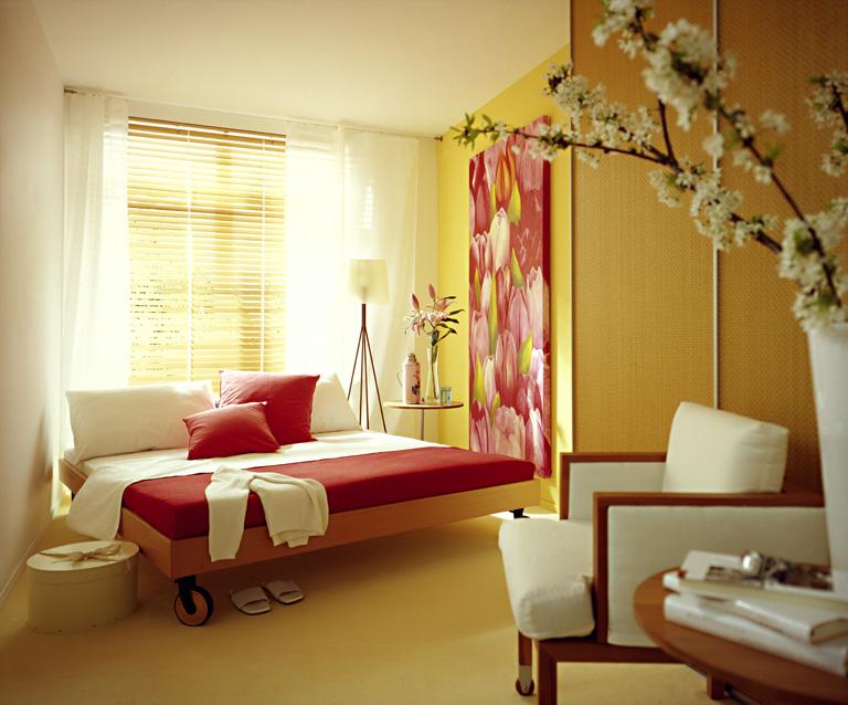 gro e wohnlichkeit auf kleinem raum schlafzimmer sch ner wohnen. Black Bedroom Furniture Sets. Home Design Ideas