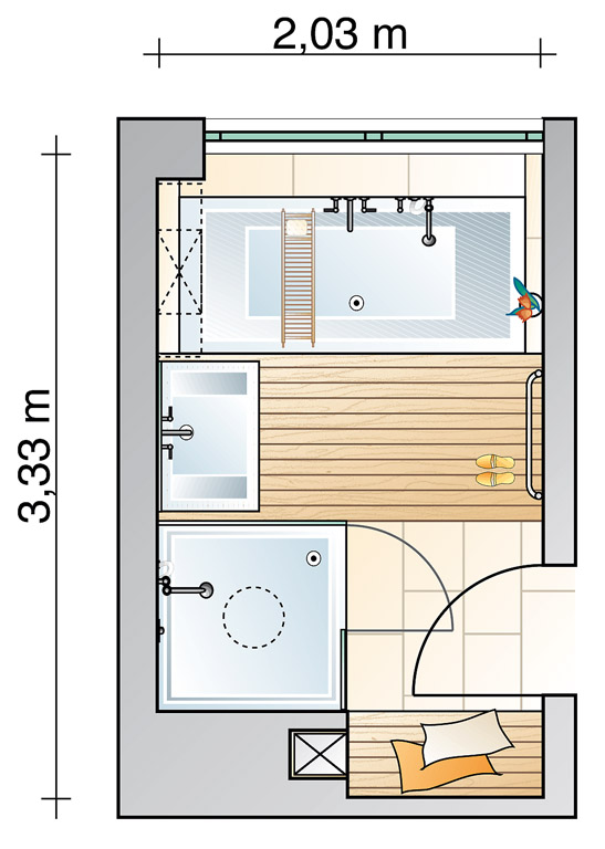 Moderne badezimmer grundrisse