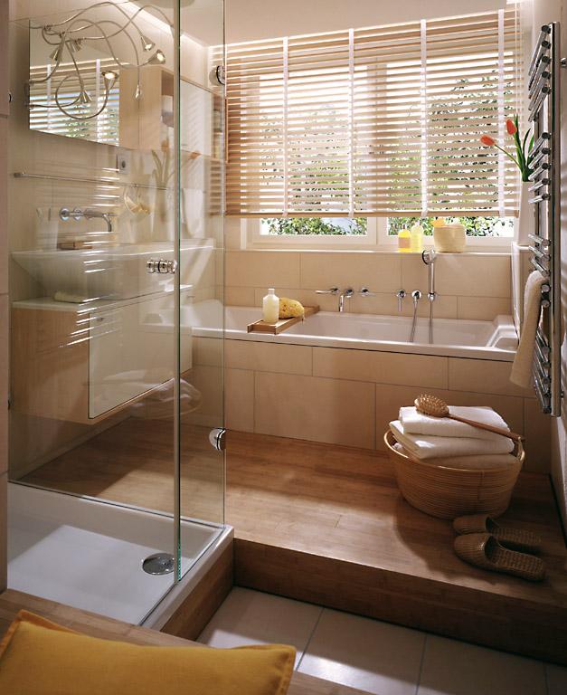 in harmonischer atmosph re baden kleiner raum sch ner wohnen. Black Bedroom Furniture Sets. Home Design Ideas