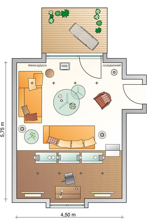 neue raumaufteilung wohnzimmer sch ner wohnen. Black Bedroom Furniture Sets. Home Design Ideas