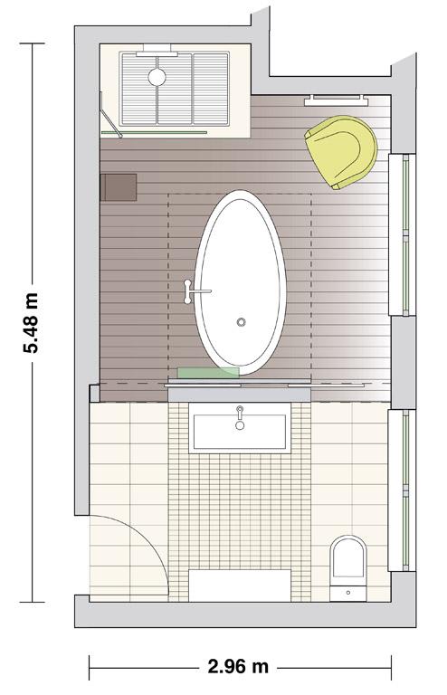 neue raumteilung badezimmer sch ner wohnen. Black Bedroom Furniture Sets. Home Design Ideas