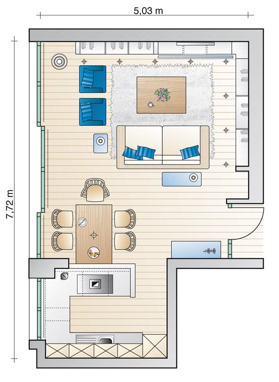 kochen und wohnen eine perfekte verbindung gro er raum sch ner wohnen. Black Bedroom Furniture Sets. Home Design Ideas