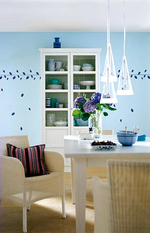 nostalgie kreative wandgestaltung 9 sch ner wohnen. Black Bedroom Furniture Sets. Home Design Ideas