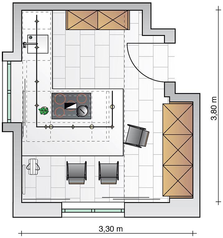 tresen im mittelpunkt k che sch ner wohnen. Black Bedroom Furniture Sets. Home Design Ideas