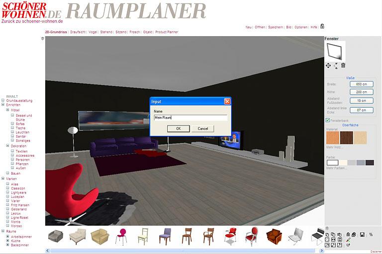 3d raumplaner sch ner wohnen. Black Bedroom Furniture Sets. Home Design Ideas