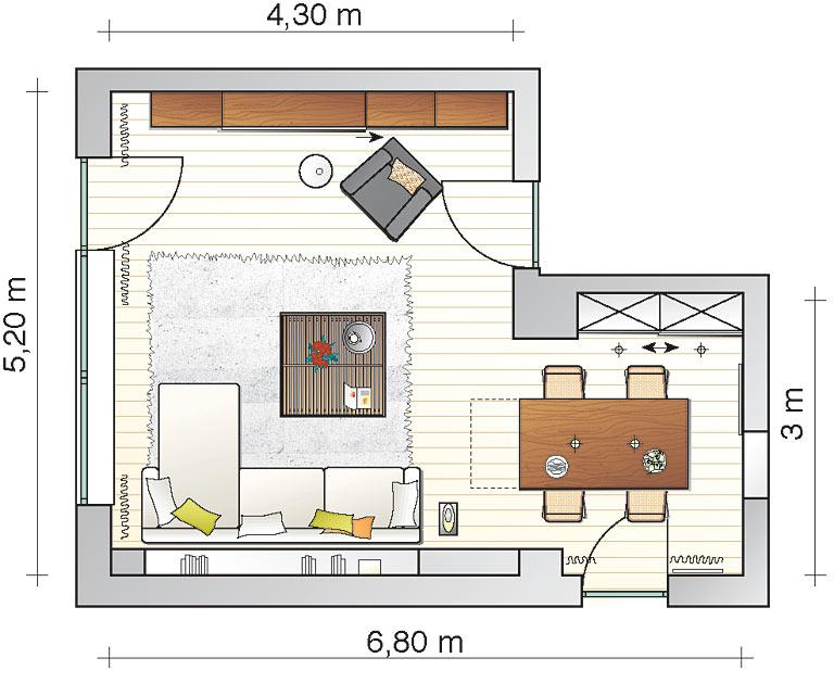 Wohn Arbeitszimmer Gestalten : Einheitlicher Wohn und Essbereich  Wohn und Esszimmer  [SCHÖNER
