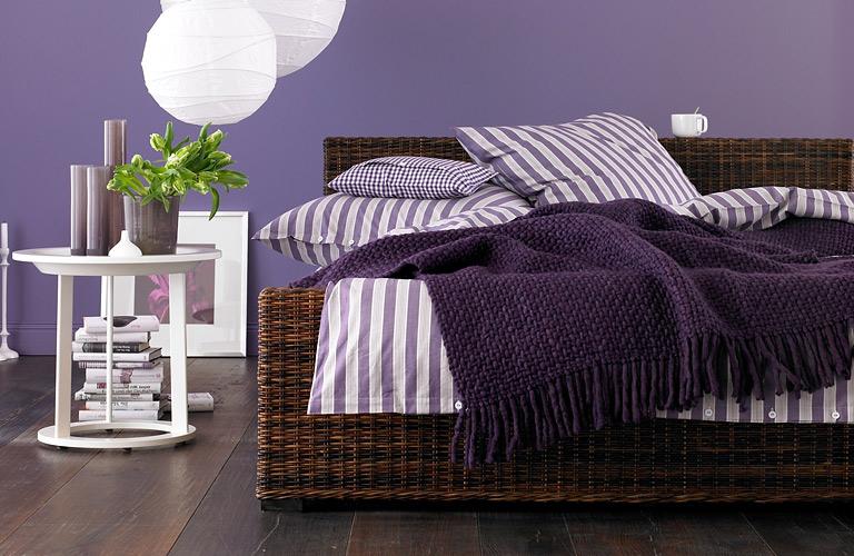 Möbel: Das Exotische: Rattan-Bett \