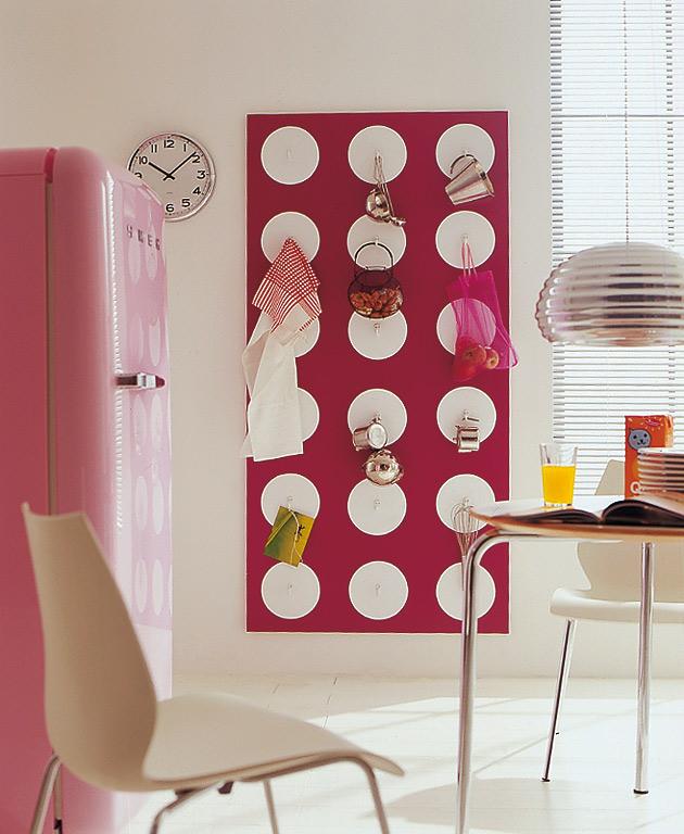 wohnen mit farben: praktische aufbewahrung für küchen-accessoires