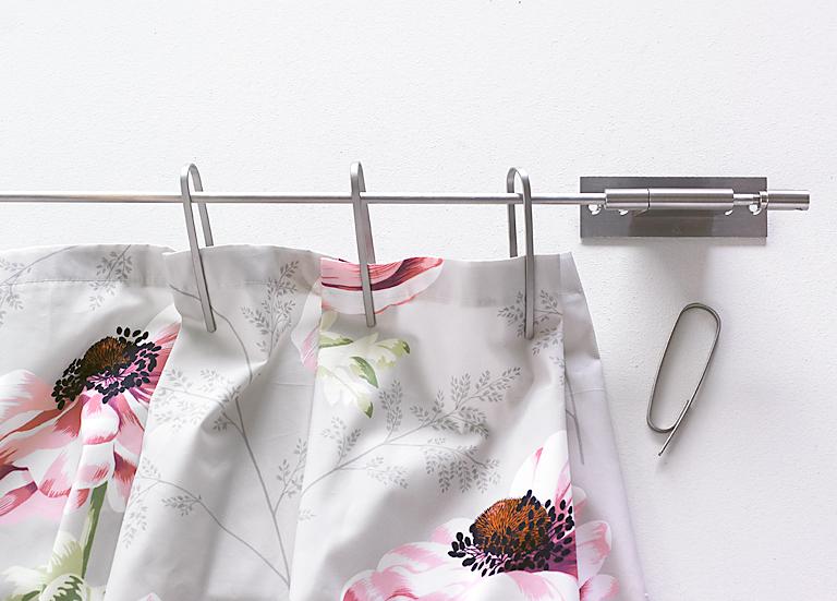 Gardinen Aufhängen dekorieren lässig aufgehängt ohne gardinenband spannstange