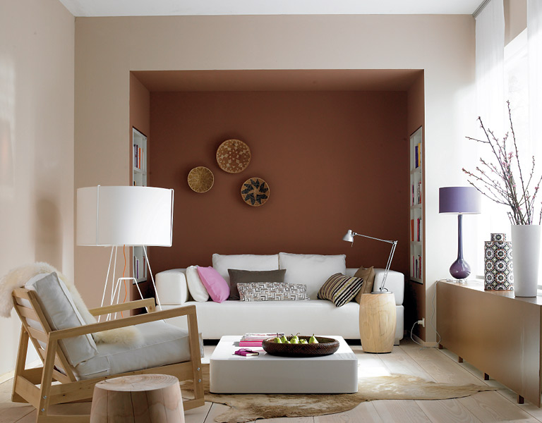 wohnen mit farben wandfarben braun rot und beige sch ner wohnen. Black Bedroom Furniture Sets. Home Design Ideas