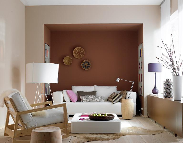 wandfarbe - wohnideen mit eine wand in rot - [living at home ...