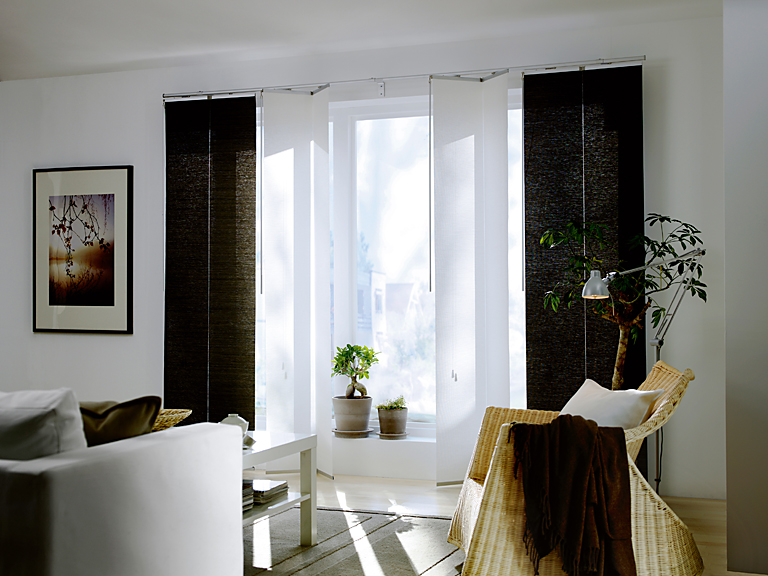 f rs fenster evabritt schiebegardine evabritt elementvorh nge sind in der mitte klappbar einfach. Black Bedroom Furniture Sets. Home Design Ideas