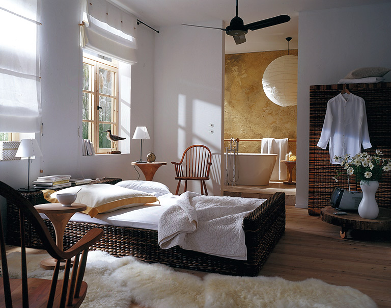 f r wellness fans nat rliche farben und viel wei bild 6 sch ner wohnen. Black Bedroom Furniture Sets. Home Design Ideas