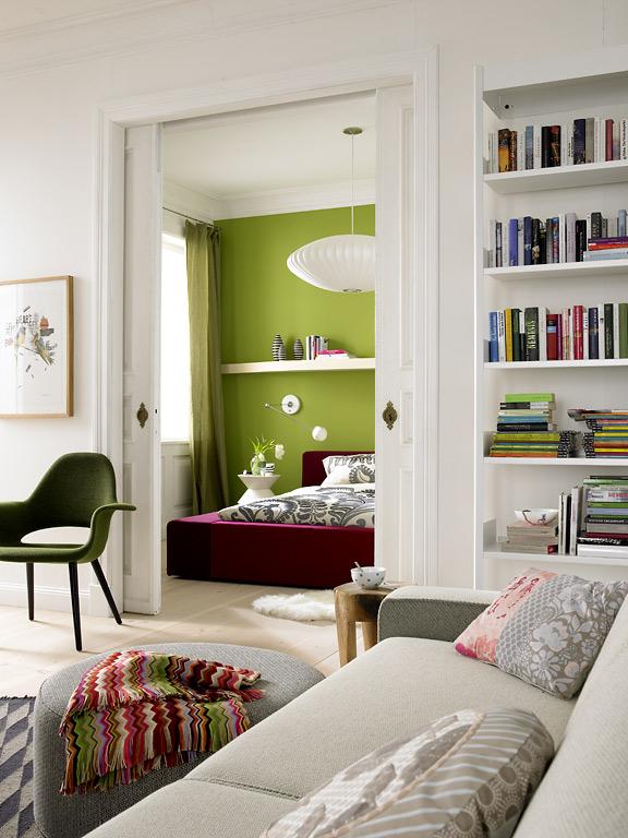 f r moderne gro st dter kombinierte schlaf und arbeitszimmer sch ner wohnen. Black Bedroom Furniture Sets. Home Design Ideas