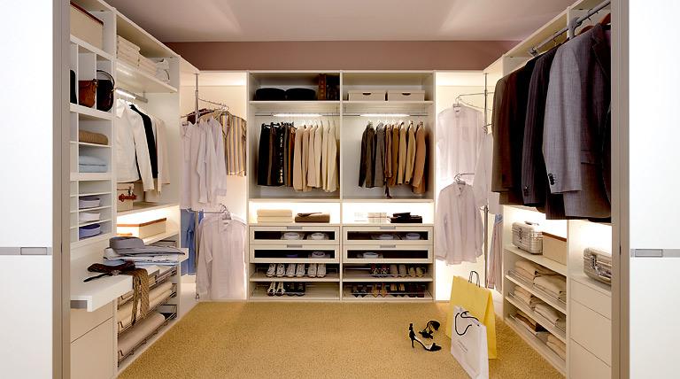 luxus begehbare kleiderschraenke schoener wohnen