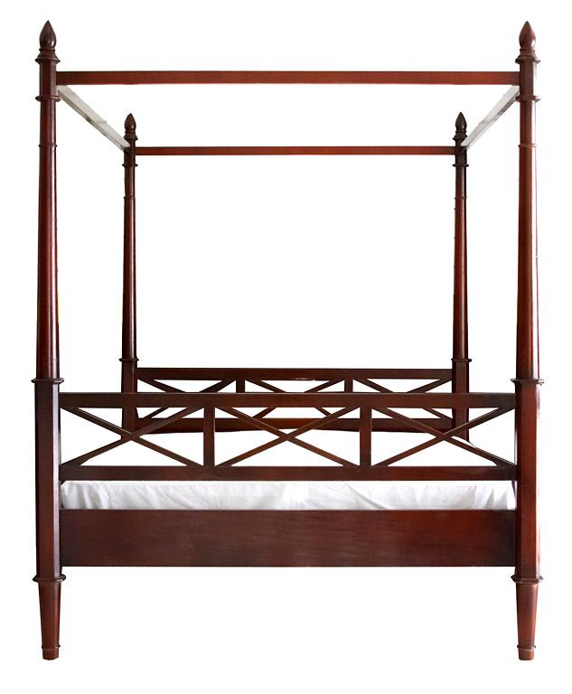 himmlisch bett romeo von flamant auch ohne stoffhimmel ist. Black Bedroom Furniture Sets. Home Design Ideas