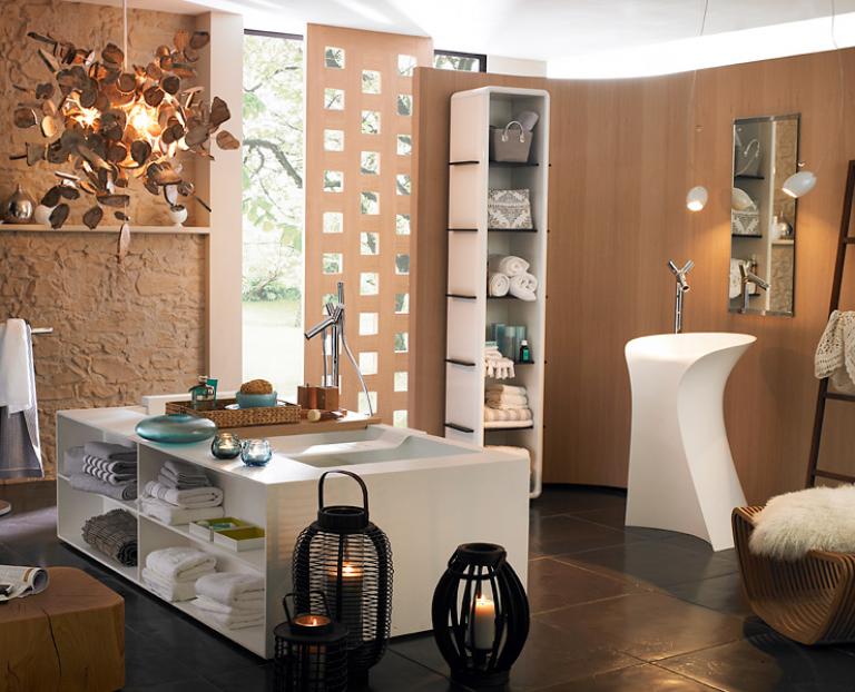 die sch nsten freistehenden badewannen sch ner wohnen. Black Bedroom Furniture Sets. Home Design Ideas