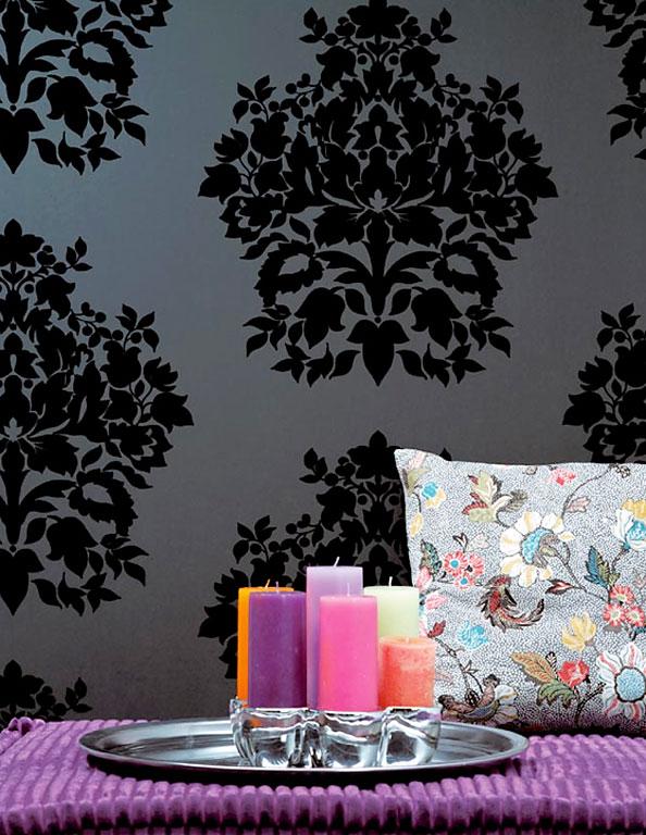 """Tapete Florales Muster Gr?n : W?nde gestalten: Tapete mit floralen Ornamenten: """"Duchess"""" von smita"""