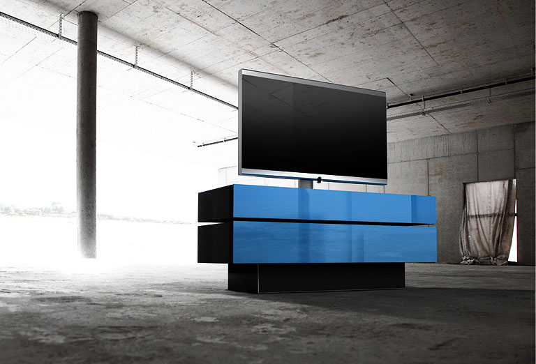 tv m bel mit integriertem soundsystem brick von. Black Bedroom Furniture Sets. Home Design Ideas
