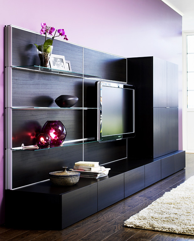 fotostrecke die vielfalt der tv m bel sch ner wohnen. Black Bedroom Furniture Sets. Home Design Ideas